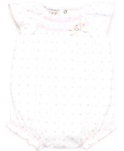 Paz Rodriguez Baby Girl's White and Pink Floral Shortie