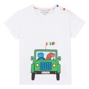 Paul Smith Junior Boys White 'Atman' Cotton T-Shirt