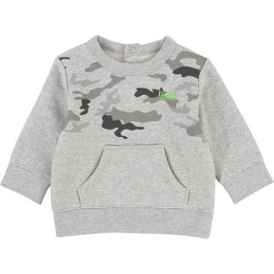 BOSS Baby Boy's Grey Cotton Logo Sweatshirt