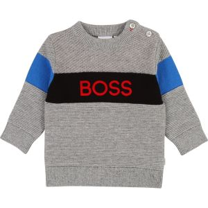 BOSS Boys Knitted Cotton Sweater
