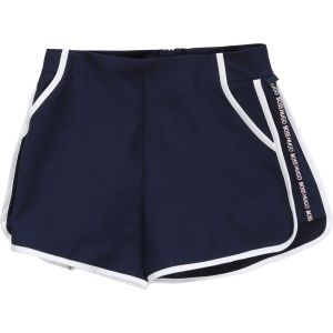 BOSS Kidswear Girls Navy Blue Logo Shorts
