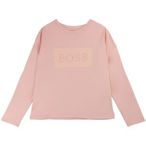 BOSS Embossed Pink Cotton Top
