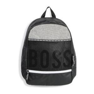 BOSS Kidswear Black Logo Backpack (40cm)