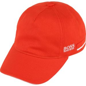 BOSS Kidswear Boys Orange Logo Cap