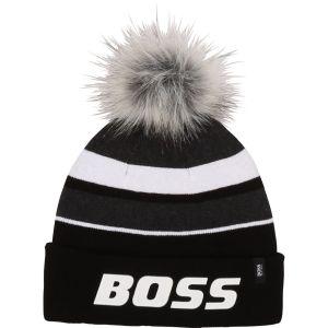 BOSS Kidswear Black and White  Logo Hat