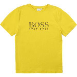 BOSS Kidswear Boys Yellow Logo T-Shirt