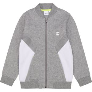 BOSS Kidswear Grey and White  Zip-Up Top