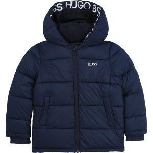 BOSS Kidswear Teen Blue Logo Puffer Jacket
