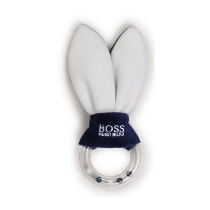 BOSS Kidswear Blue & White Ring Teether