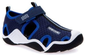 Geox Boy's Navy Blue And Royal Blue Wader