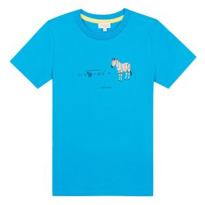 Paul Smith Junior Boys Blue 'Aban' Cotton Zebra T-Shirt