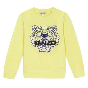 Kenzo Kids Girls Yellow Iconic Tiger Sweatshirt