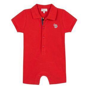 Paul Smith Junior Baby Boys Red Cotton Truth Shortie