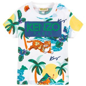 Kenzo Kids Baby Boys Tiger Hawai T-Shirt