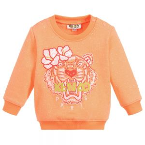 Kenzo Kids Baby Girls Orange TIGER Sweatshirt
