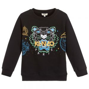 KENZO KIDS Black Cotton Iconic Tiger Sweatshirt