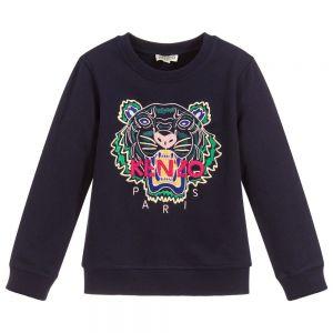KENZO KIDS Navy Blue Cotton Tiger Sweatshirt
