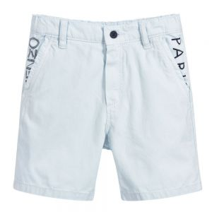 Kenzo Boy's Blue Cotton Shorts