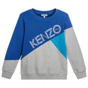 Kenzo Kids Boys Cotton White Logo Sweatshirt