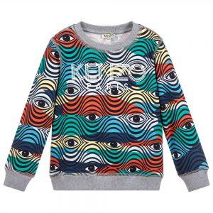 Kenzo Kids Boys Cotton Multi Coloured Eye Sweatshirt