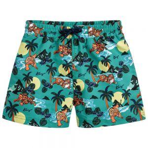 Kenzo Kids Boys Green Swim Shorts