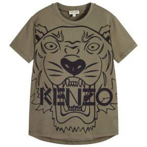 KENZO KIDS Boys Green Tiger T-Shirt