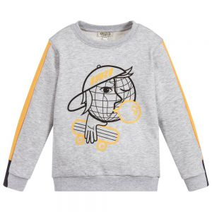 KENZO KIDS Boys Grey Cotton Sweatshirt