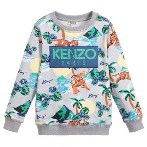Kenzo Kids Older Boys Grey HAWAI Sweatshirt
