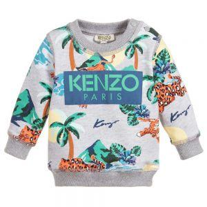 Kenzo Kids Boys Grey HAWAI Sweatshirt
