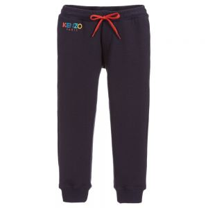 KENZO KIDS Boys Navy Blue Cotton Joggers