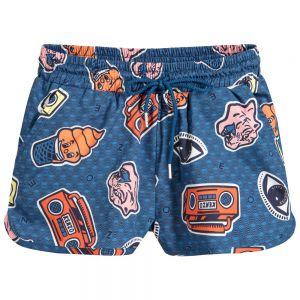 Kenzo Kids Girls Blue ICONIC PRINT Shorts