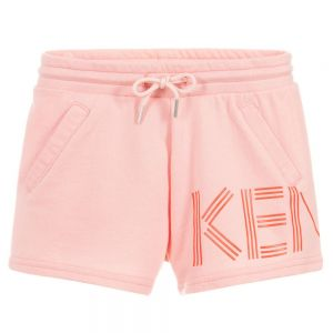 Kenzo Kids Girls Cotton Logo Shorts