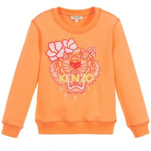 Kenzo Kids Girls Orange TIGER Sweatshirt