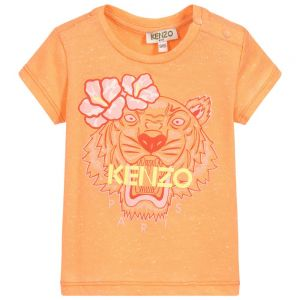 Kenzo Kids Baby Girls Orange Tiger T-Shirt