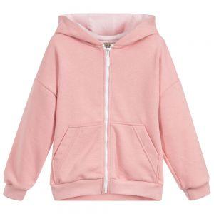 KENZO KIDS Girls Pink Hooded Zip-Up Top