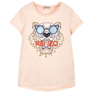 Kenzo Kids Girls Pink TIGER Sunglasses T-Shirt