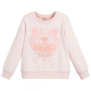 KENZO KIDS Pink Cotton Tiger Sweatshirt