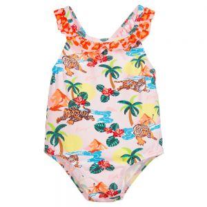 Kenzo Kids Pink Tiger Swimsuit (UPF50+