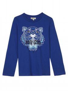 Kenzo Boy's Iconic Blue Long Sleeved T-Shirt