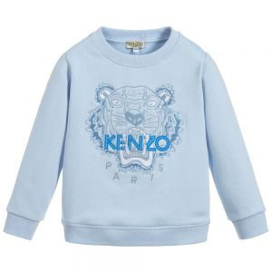 Kenzo Kids Unisex Pale Blue Cotton Iconic Tiger Sweatshirt