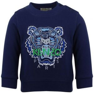 Kenzo Kids Boy's Blue Tiger Sweatshirt