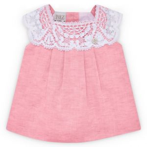 Paz Rodriguez Baby Girl Pink Lace Dress
