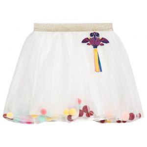 BILLIEBLUSH Girl's Cream Pom Pom Tulle Skirt