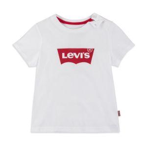 Levi's Baby Boys White Cotton Logo T-Shirt