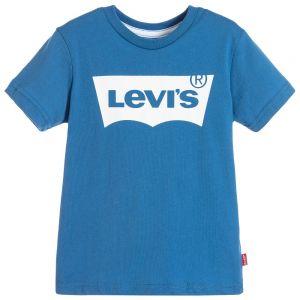 Levi's Boys Mid-Blue Classic Logo T-Shirt