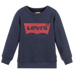 Levi's Boys Navy Blue Red Logo Sweatshirt