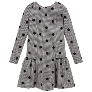 LILI GAUFRETTE Black & Grey Jersey Spot Dress
