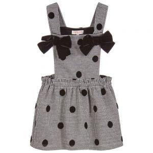 LILI GAUFRETTE Black & Grey Jersey Pinafore