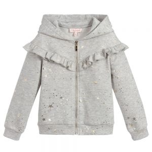 LILI GAUFRETTE Girls Cotton Zip-Up Top