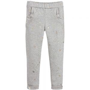 LILI GAUFRETTE Girls Grey Cotton Trousers
